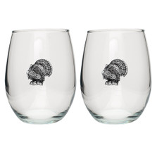 Turkey Stemless Goblet Set of 2 | Heritage Pewter | HPISGB716