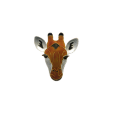 Giraffe Face Pin | Nature Jewelry