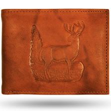 Deer Standing Leather Bifold Wallet