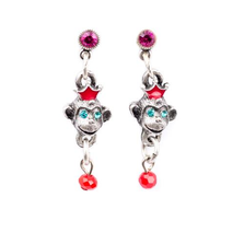 Monkey Dangle Post Earrings | Nature Jewelry | ER-9701-BM