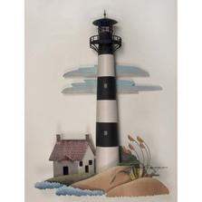 Bodie Island Lighthouse Replica Metal Wall Sculpture | TI Design | TICA766