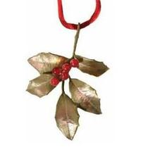 Holly Bronze Ornament  | Michael Michaud Table Art | taOR9364ABRJ