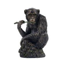 Chimpanzee Chewing Tree Branch Sculpture | Unicorn Studios | wu74873a4