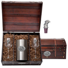 Pheasant Wine Chest Set | Heritage Pewter | HPIWSC123