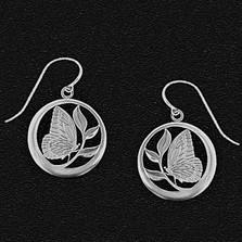 Butterfly Pewter Earrings