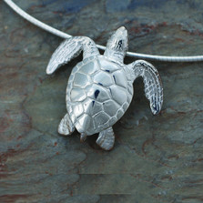 Sea turtle pendant necklace ocean traveler big blue jewelry green sea turtle pendant necklace roland st john jewelry aloadofball Image collections