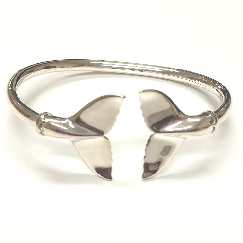 Whale Tail Sterling Silver Bracelet Nature Jewelry