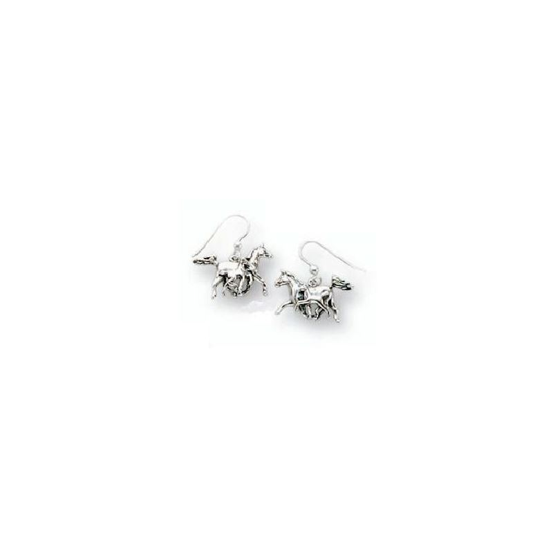 Horse Wire Earrings | Sterling Silver | Kabana