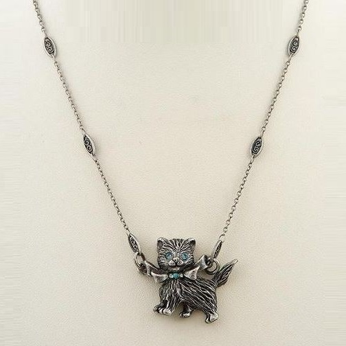 Kitty necklace pendant glamour la contessa glamour kitty pendant necklace nature jewelry aloadofball Gallery