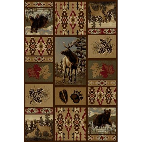 Bear Deer Wilderness Area Rug American Cover Persian