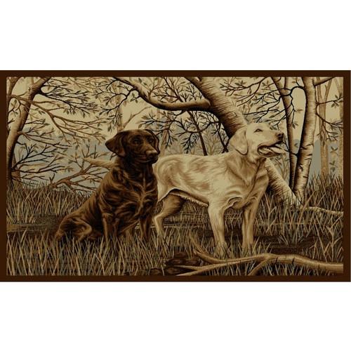 Caribu Dog Rug: Labs Wilderness Area Rug