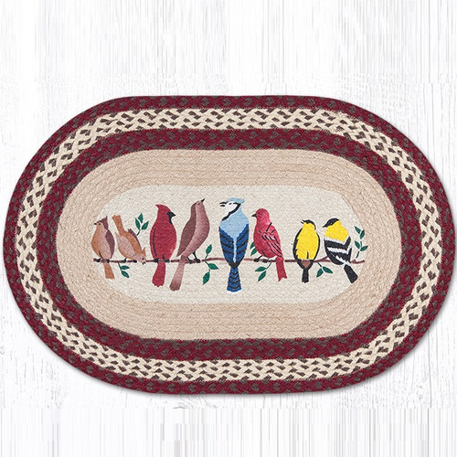 Birds On A Wire Oval Braided Rug Capitol Earth Rugs
