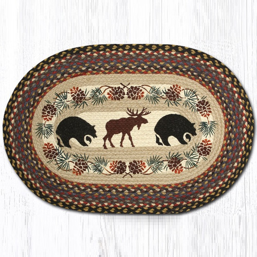 Bear And Moose Oval Braided Rug Capitol Earth Rugs