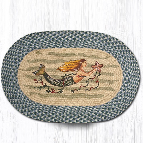 Mermaid Oval Braided Rug Capitol Earth Rugs Jute Area Rug
