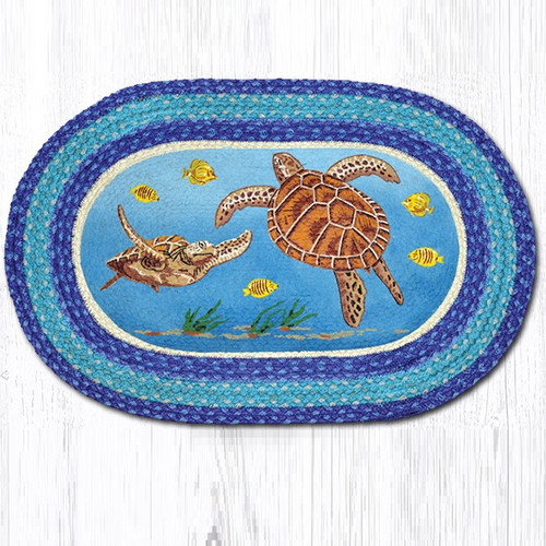 Sea Turtle Oval Braided Rug Capitol Earth Rugs Jute
