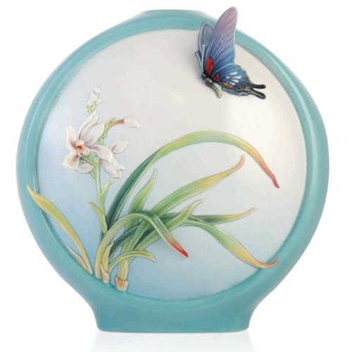 Butterfly Orchid Vase Porcelain Butterfly Orchid Vase Fz03354 Franz Porcelain