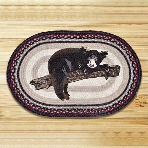 Baby Bear Oval Patch Braided Rug Area Rug