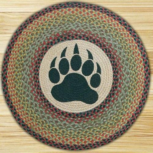 Bear Paw Round Braided Rug