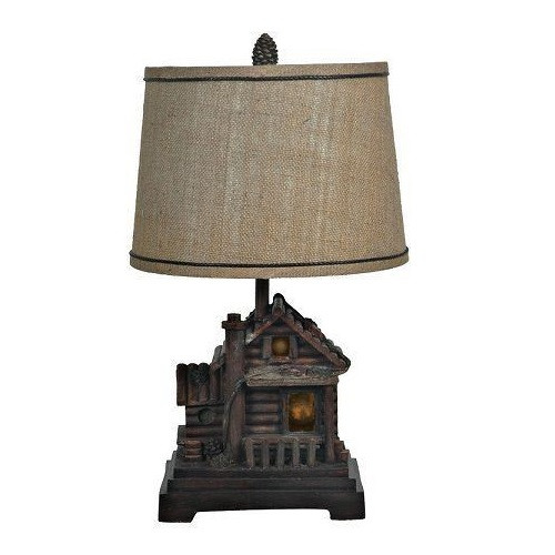 Log Cabin Table Lamp | Crestview Collection | CVCCIAUP506 ...
