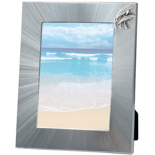 Dolphin 5x7 Photo Frame | Heritage Pewter