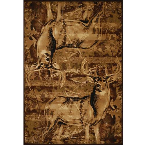 Deer Area Rug American Buck United Weavers