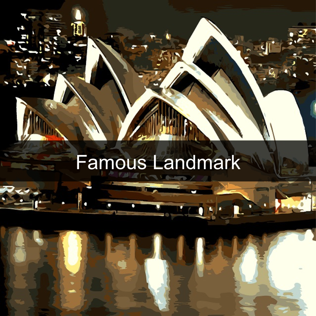 Paint by Numbers Kits - Famous Landmarks
