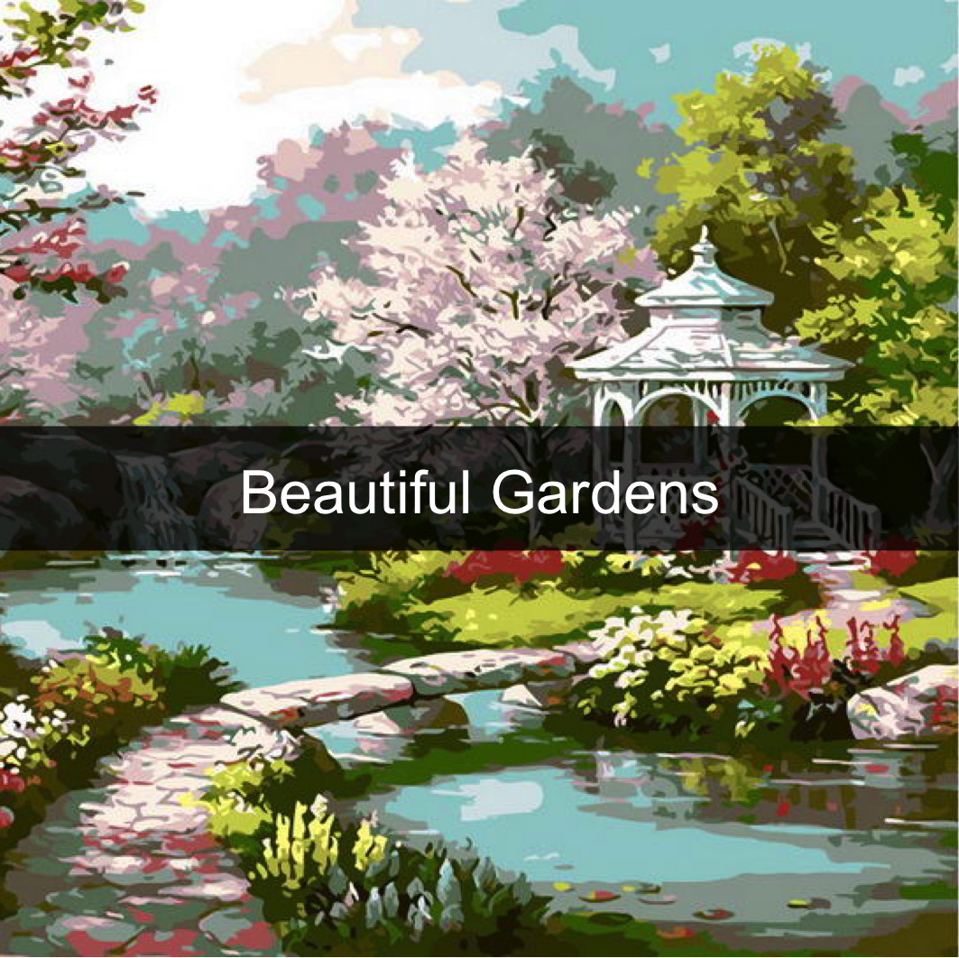 Paint by Numbers Kits - Gardens