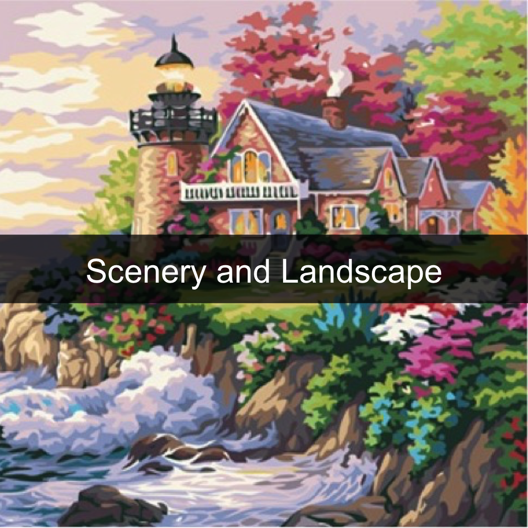 Paint by Numbers Kits - Scenery and Landscape