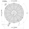"Spal Electric Fan 14"" Push -  Spal 30102056 - Click for more info."