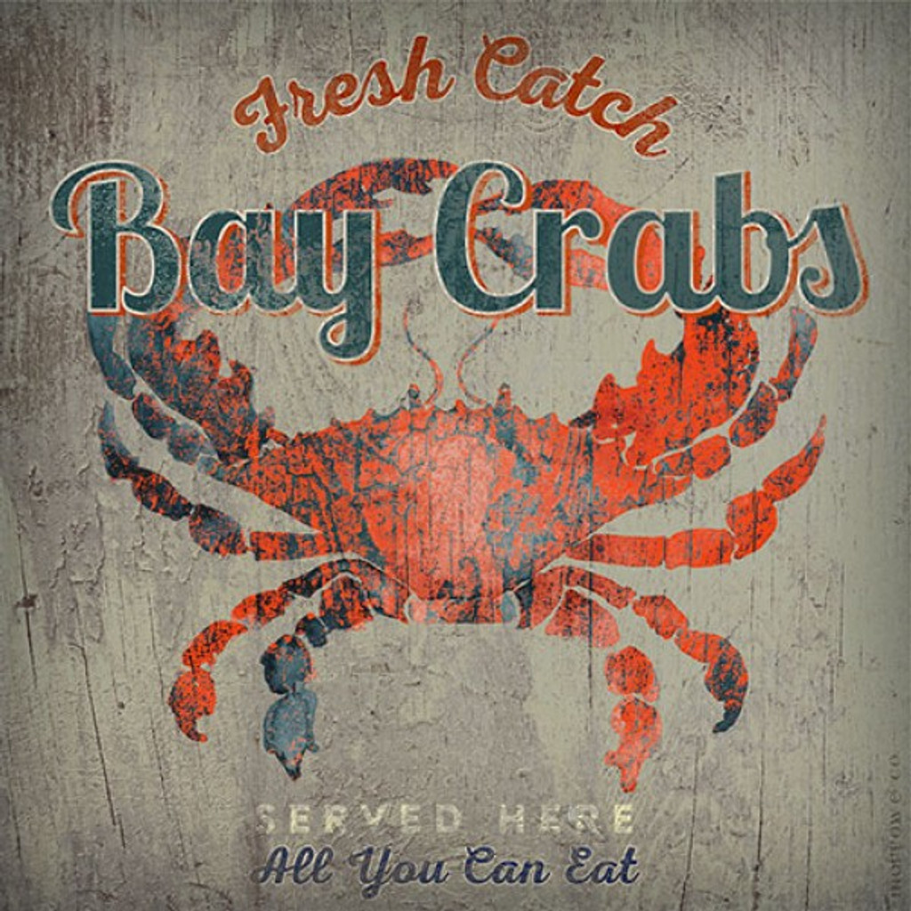 Fresh Catch Bay Crabs Art