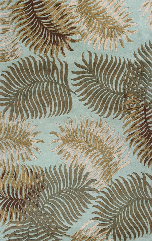 Aqua Fern View Rug