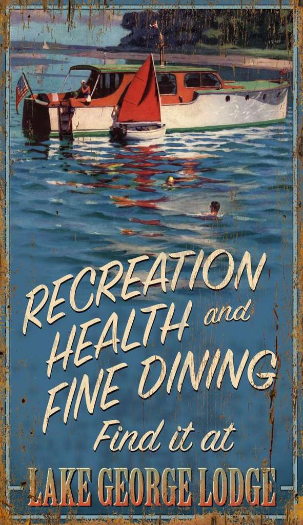 Lake George Boating Custom Wall Art