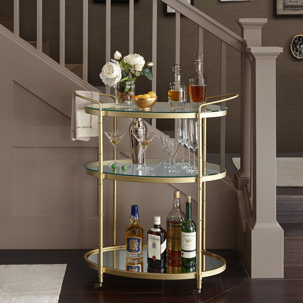 Lauren Gold Bar Cart