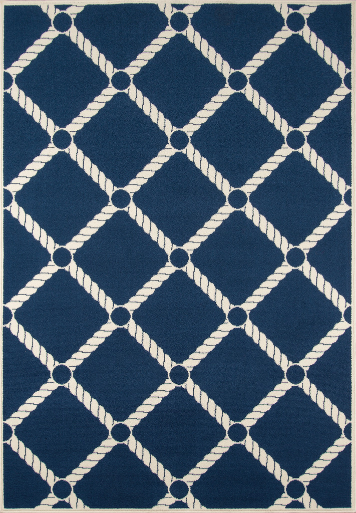 Nautical Rope Navy Baja Rug