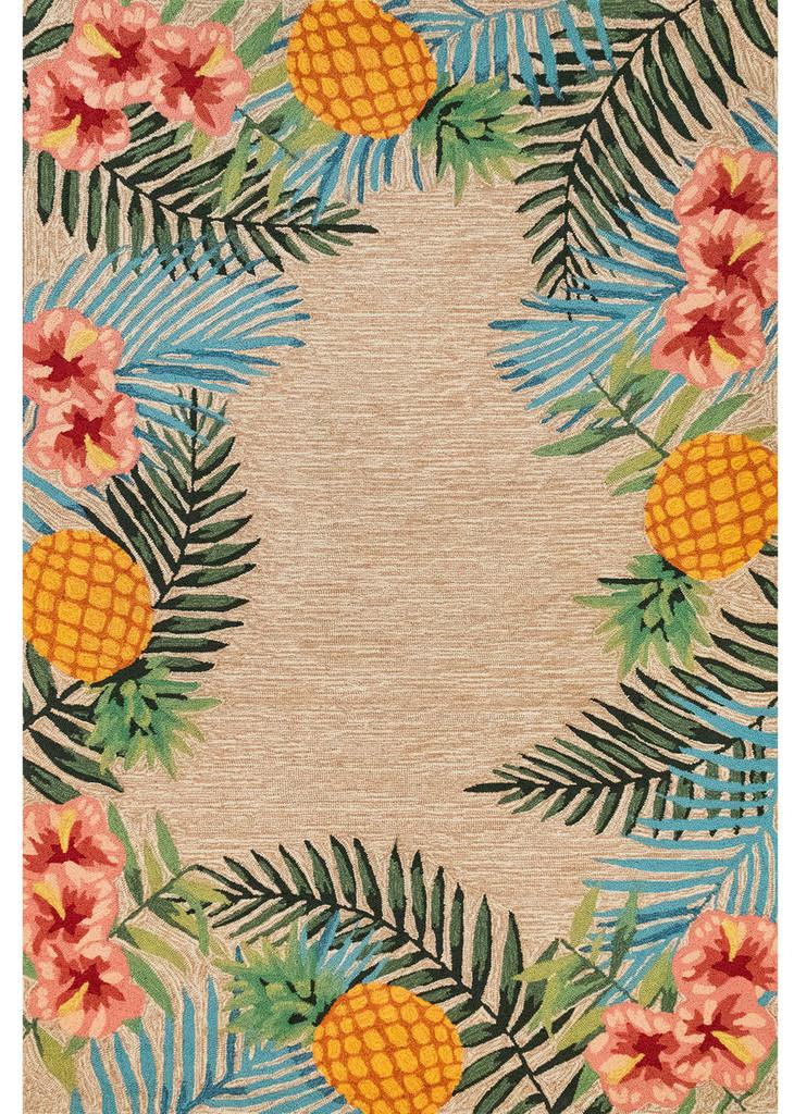 Tropic Botanical Border Rug