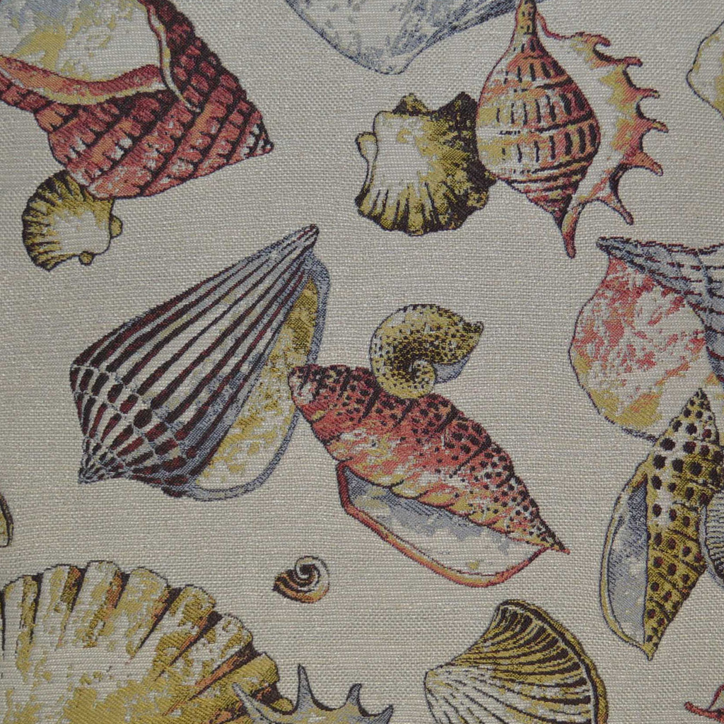 Shell Game Elegant Pillow close up fabric