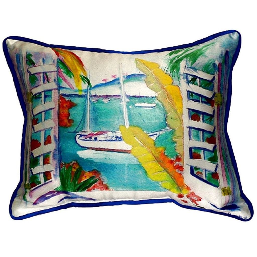 Tropical Bay View Coastal Pillow