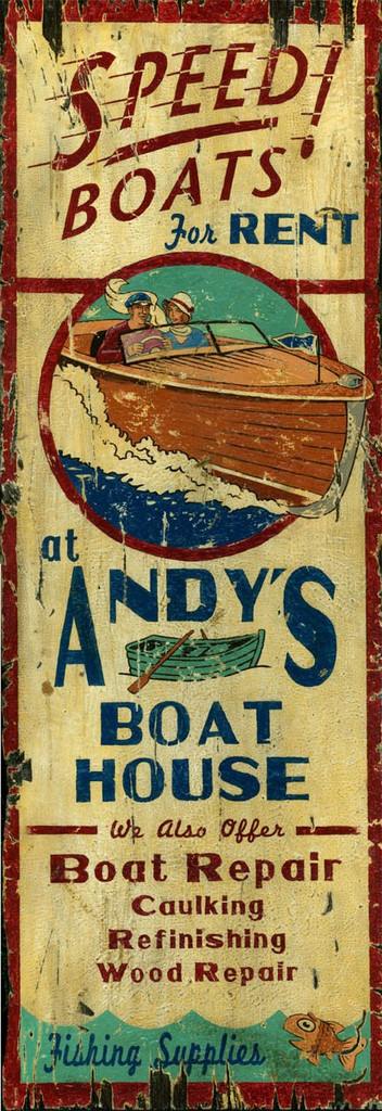 Andy's Boat House Sign