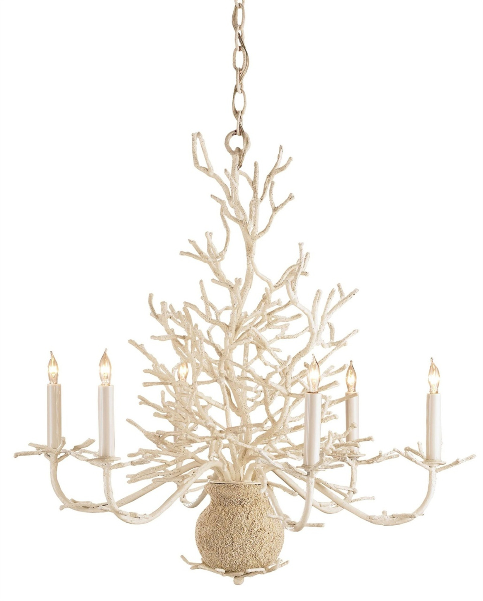 Seaward white coral branch chandelier aloadofball Image collections