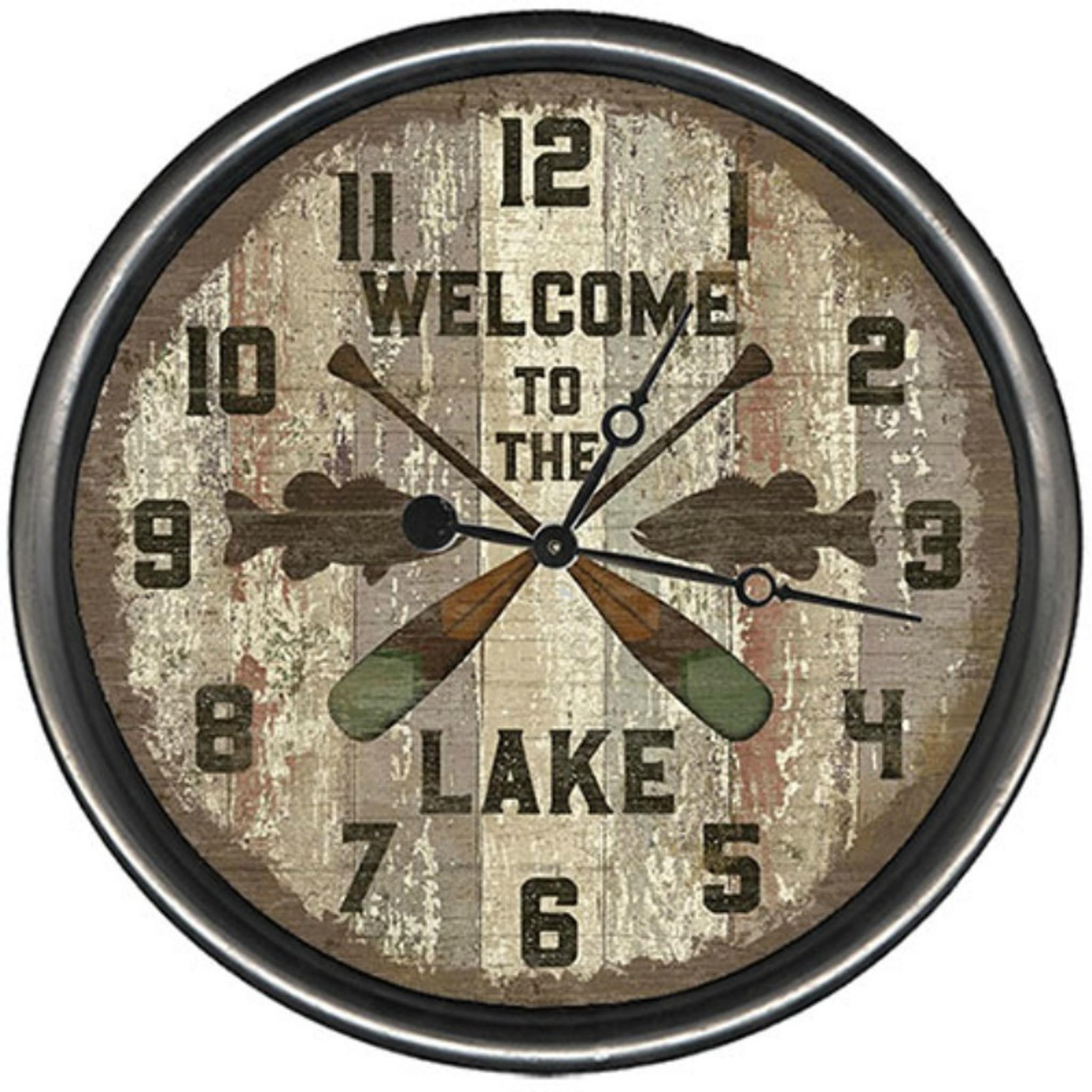Lake Oars Clock Custom