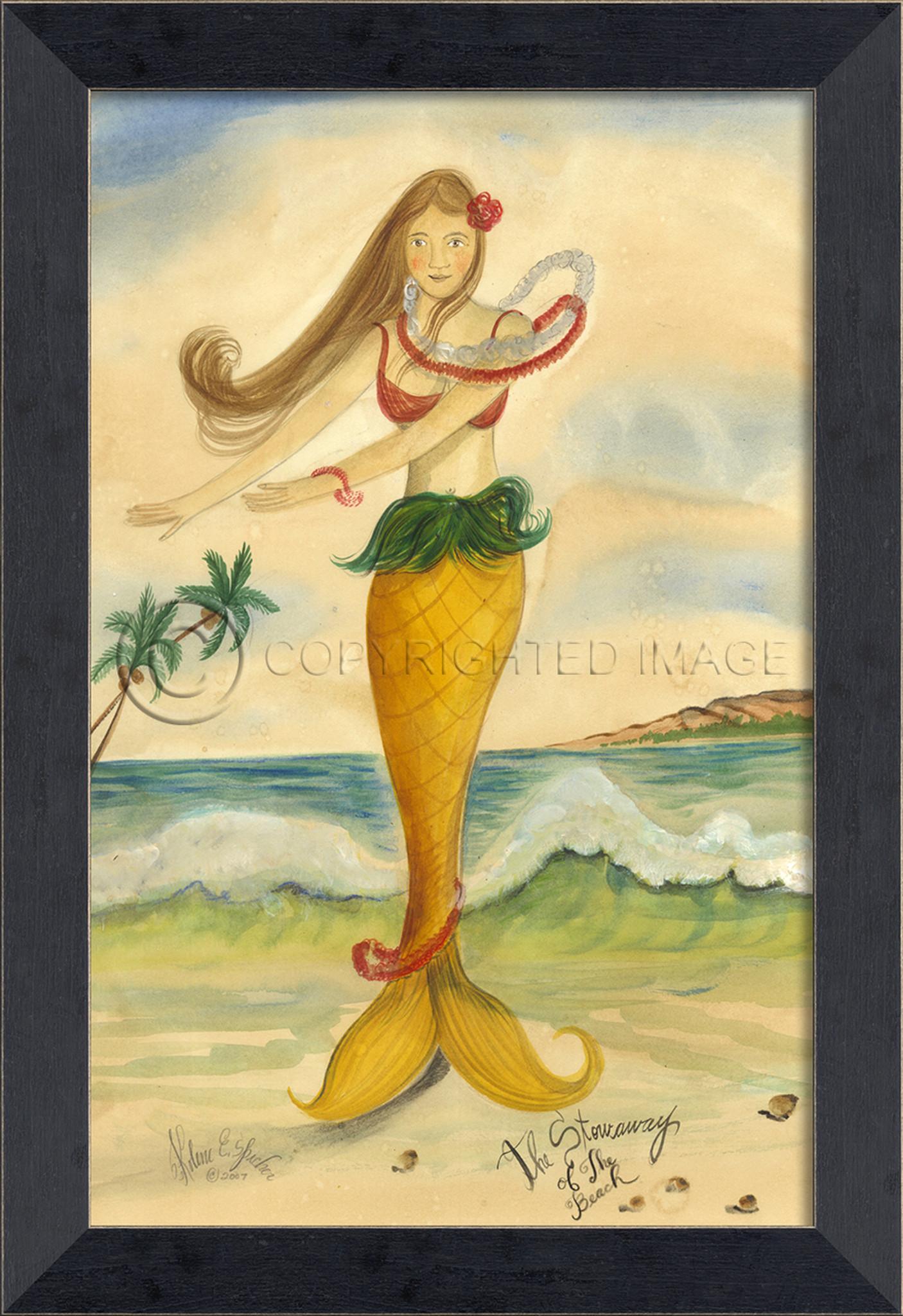 Stowaway of the Beach Mermaid Wall Art - Small