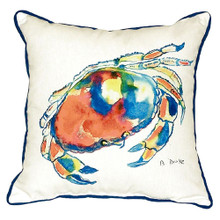 Watercolor Dungeness Crab Pillow
