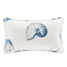 Beach House Blues Oblong Decorative  Pillow