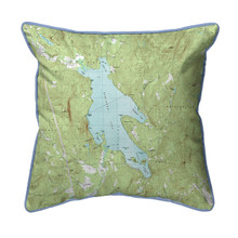Newfound Lake, New Hampshire 22 x 22 Nautical Map Pillow