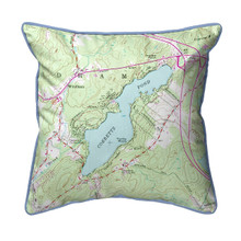 Cobbetts Pond, New Hampshire Nautical Map 22 x 22 Pillow