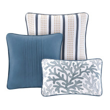 Bayside Nantucket King queen Comforter Set - decorative pillows