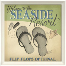 Seaside Resort Beach Poster Wall Art
