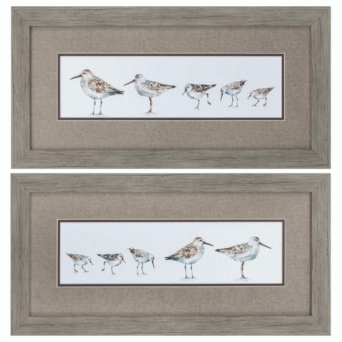 Sandpiper Brunch on the Beach Prints - Set of 2