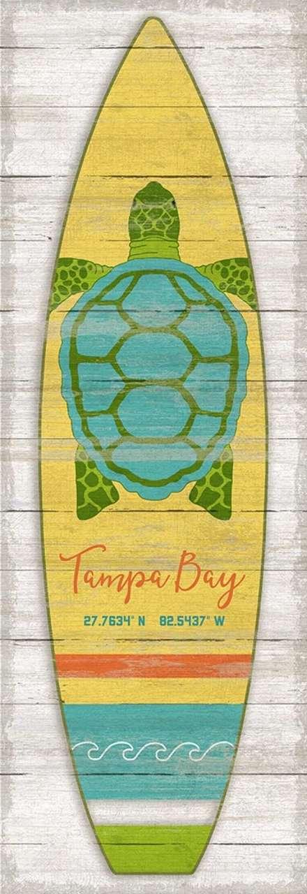 Sea Turtle Surfboard Custom Art