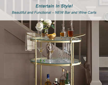 Beautiful and Functional – NEW Bar and Wine Carts